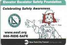 Metrocard Holder Metro Elevator/Escalator Safety