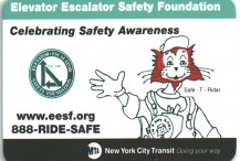 Metrocard Holder Metro Elevator/Escalator Safety