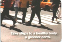 Metrocard Holder Take steps to a healthy body a greener earth